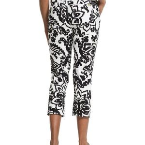 CHICO'S abstract floral print crop pants